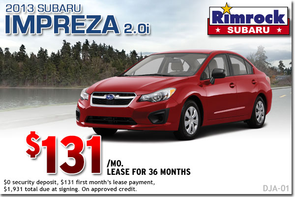 New 2013 Subaru Impreza Lease Special Billings, MT