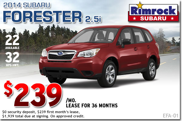 New 2014 Subaru Forester Lease Special Billings, MT