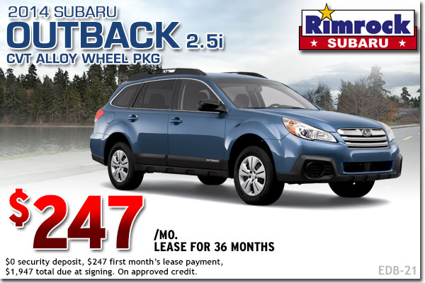 New 2014 Subaru Outback Lease Special Billings, MT
