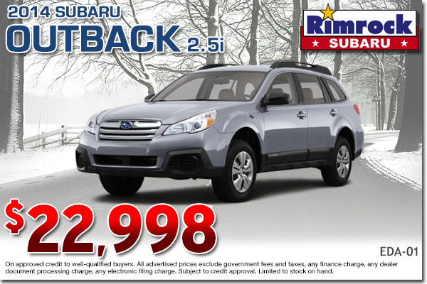 New 2014 Subaru Outback Sale Special Billings, MT