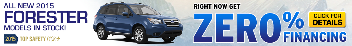 0% APR financing on new Suabru Forester models in Billings, MT