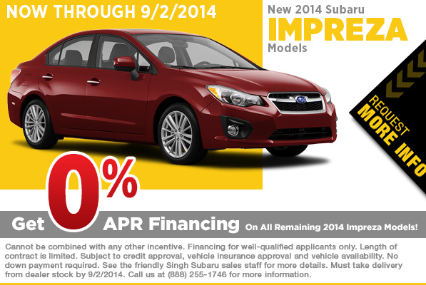 2014 Subaru Impreza July Financing Special serving Riverside, CA