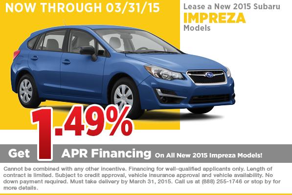 2015 Subaru Impreza Lease Special Serving Fontana, CA