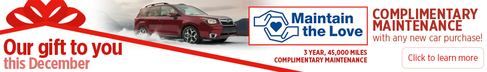 Complimentary Maintenance With Any New Car Purchase