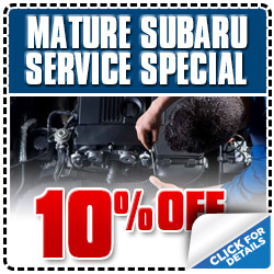 Glendale Subaru 100k Mile Service Special Discount Coupon serving Los Angeles, California