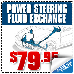 Los Angeles Subaru Power Steering Fluid Exchange Service Special Discount Coupon serving Glendale, California