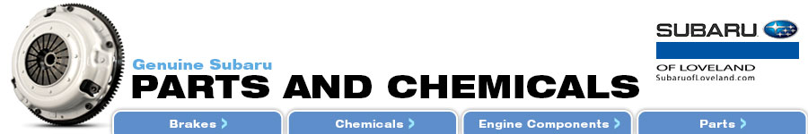 Genuine Subaru Parts and Chemicals serving Fort Collins & Greeley