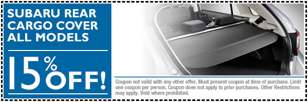 Fort Collins Subaru Cargo Cover Accessory Discount Special Coupon serving Loveland, Colorado