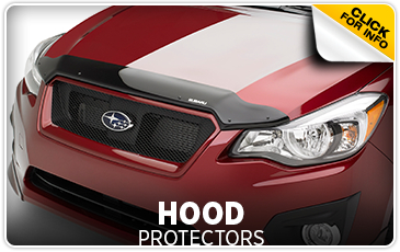 Learn more about Genuine Subaru parts and accessories - Hood protectors keep rocks and other debris from damaging your paint - Get them at Subaru of Puyallup serving Tacoma, WA