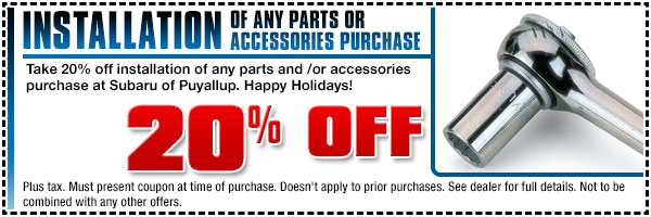 Subaru Holiday Installation Parts & Accessories Puyallup, WA
