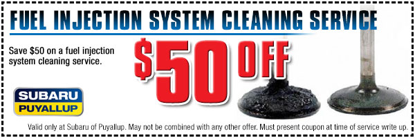 $20 Off Subaru Fuel Injection System Service at Subaru of Puyallup Near Olympia & Tacoma, Washington