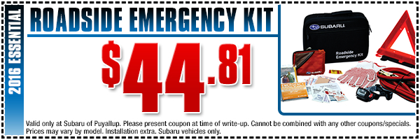 Subaru Roadside Emergency Kit Parts Special Serving Auburn, WA