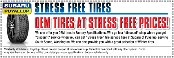 Save on tires and have a stress-free experience in Puyallup, WA