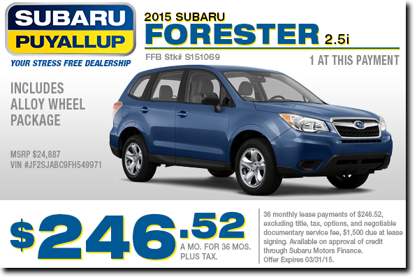 2015 Subaru Forester Lease Special in Puyallup, WA