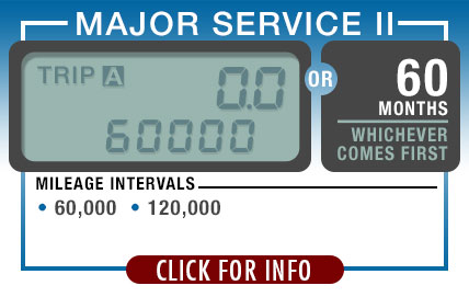 Subaru Recommended Major Service 2 | Every 60,000 Miles or 60 Months