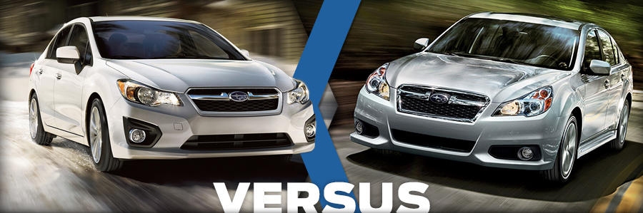 2014 subaru impreza vs 2014 subaru legacy model comparison. Black Bedroom Furniture Sets. Home Design Ideas