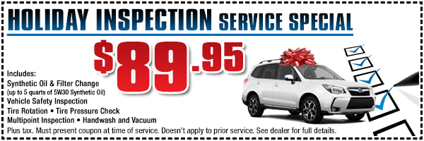 Subaru Holiday Inspection Service Special in Torrance, CA