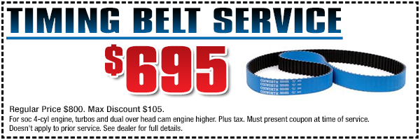 Genuine Subaru Timing Belt Replacement Service Special serving Hermosa Beach & Torrance, CA
