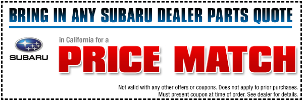 Subaru Price Match Parts Special Serving Redondo Beach, CA