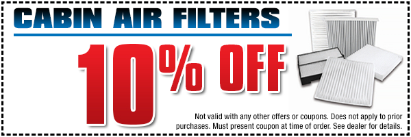 Breathe easier with a new Genuine Subaru cabin air filter - save with this special offer at Subaru Pacific in Torrance serving Manhattan Beach, CA