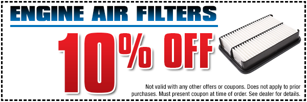 If the air filter in your BOXER engine is dirty, save when you purchase a Genuine Subaru engine air filter with this coupon at Subaru Pacific in Torrance serving Hermosa Beach, CA