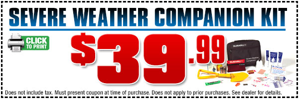 Subaru Severe Weather Companion Parts Special serving Lomita & Torrance, CA