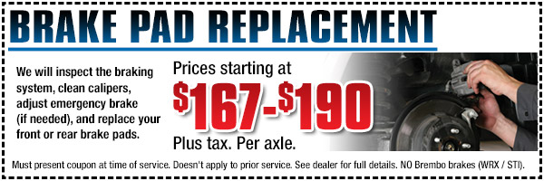 Brake Replacement Service Savings Special Torrance California