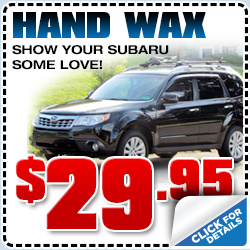Subaru Hand Wax Service Savings Special Torrance California