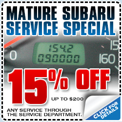 Subaru Mature Service Savings Special Torrance California