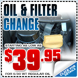 Subaru Conventional Oil and Filter Change Service Special serving Hermosa Beach & Torrance, CA