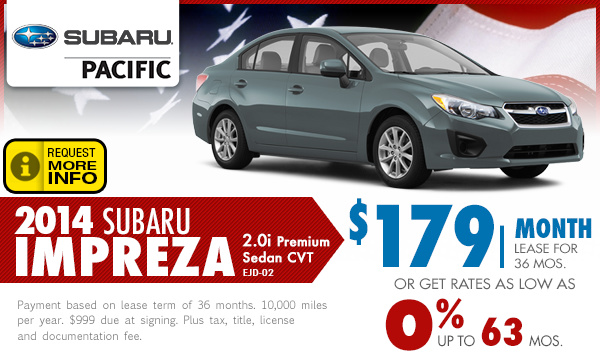 2014 subaru impreza lease finance specials torrance for Subaru motors finance online payment