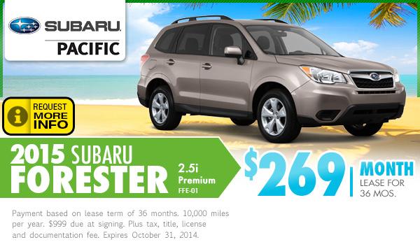 2015 subaru forester lease specials subaru pacific for Subaru motors finance online payment