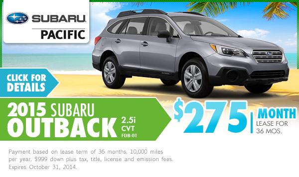 New subaru lease and sales specials torrance los for Subaru motors finance online payment