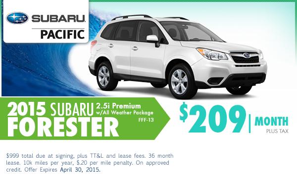 2015 Subaru Forester Premium Lease Special in Torrance, CA