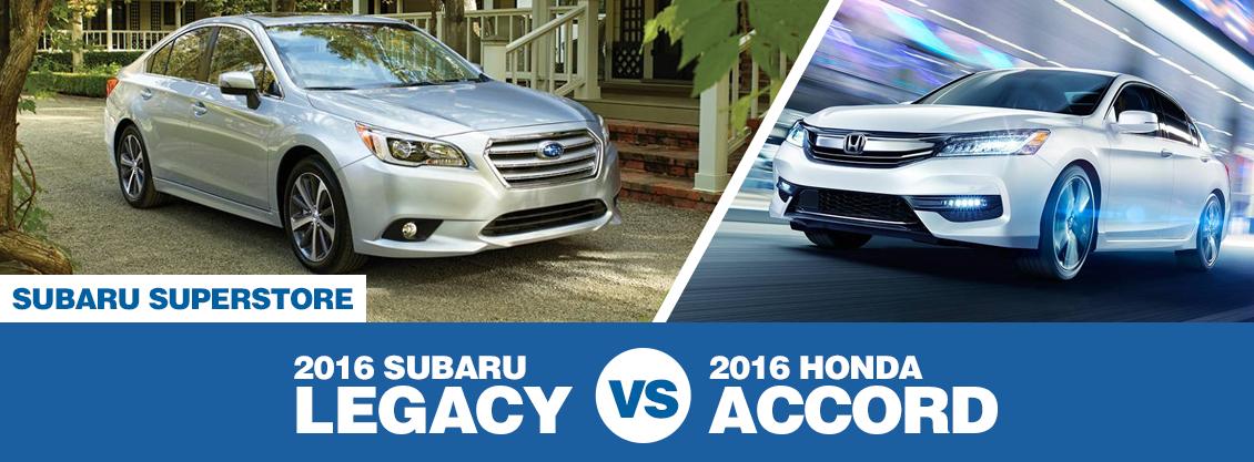 2016 Subaru Legacy Vs 2016 Honda Accord Model Comparison