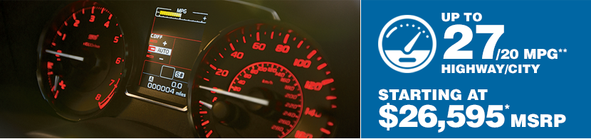 2016 Subaru WRX Fuel Mileage