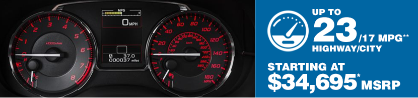 2016 Subaru WRX STI Fuel Mileage