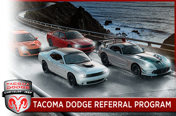 Referall Program at Tacoma Dodge's Service Center
