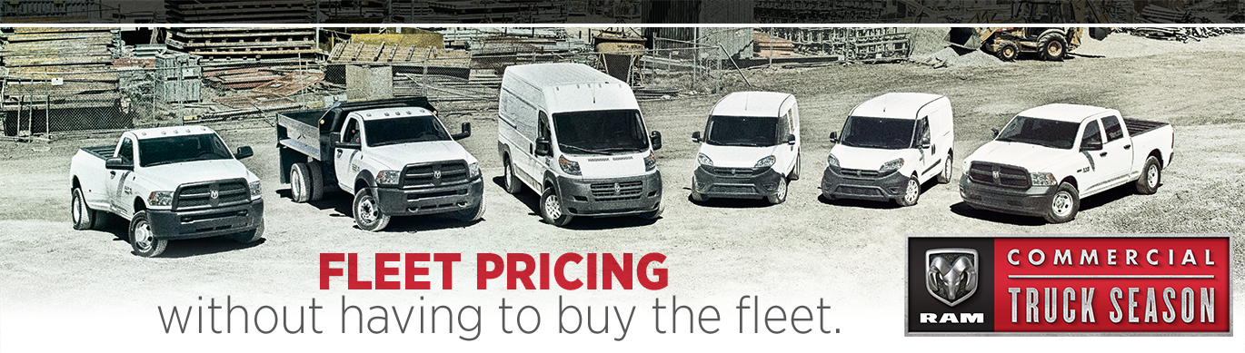 Ram Commercial Fleet Pricing Models in Tacoma, WA