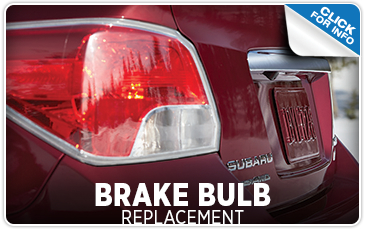Subaru brake light bulb replacement service from John Hine Temecula Subaru serving Murrieta and Riverside, CA