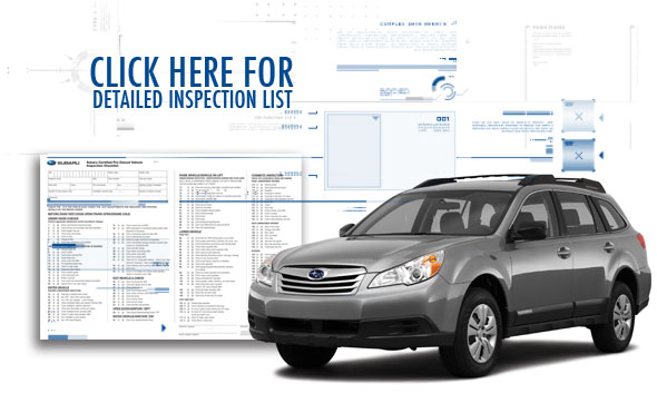 Cerified Subaru Pre-owned CPO Checklist
