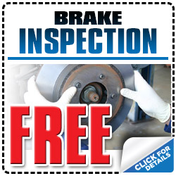 Free Subaru Brake Inspection Service Special Discount Coupon serving Tucson & Phoenix, Arizona