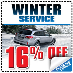 Tucson Subaru's Winter Service Service Special Discount Package serving Arizona