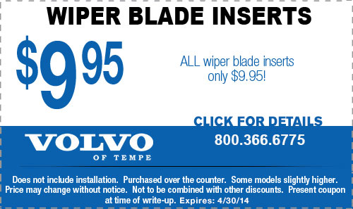 Volvo Wiper Blade Insert Parts Special Tempe, AZ