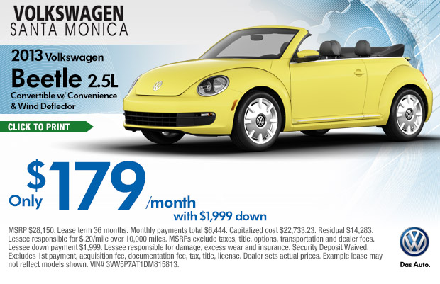 new 2014 volkswagen beetle special lease offers los. Black Bedroom Furniture Sets. Home Design Ideas