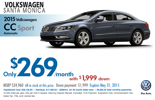 New 2015 Volkswagen Lease Specials Santa Monica Amp Los Angeles New Car Discounts