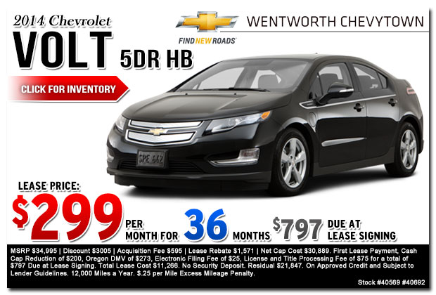 New 2015 Chevy Volt Lease Amp Sales Specials Portland Or
