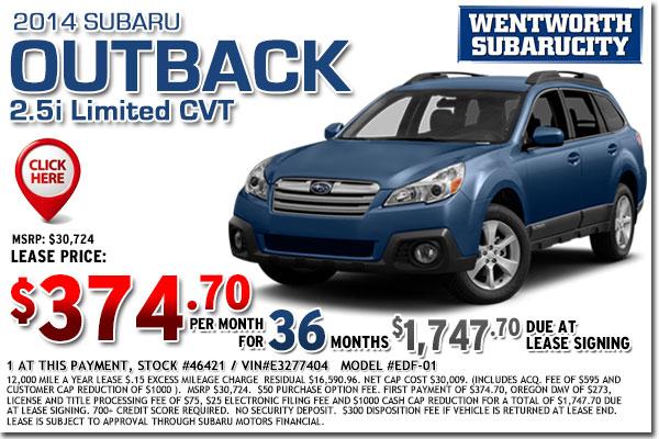 New 2015 Subaru Lease Special Offers | Portland ...