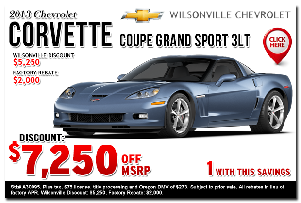 2013 Chevrolet Corvette Grand Sport 3LT Sales Special Portland, Oregon