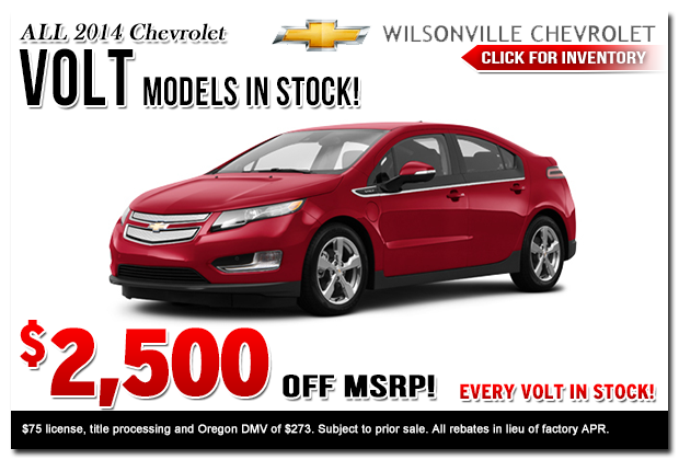 2015 new volt special offers discounts portland or for Used electric motors portland oregon